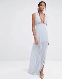 Платье макси Missguided - Серый