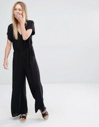 Комбинезон с широкими штанинами Monki - Черный