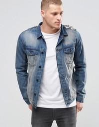 Синяя джинсовая куртка Religion - Синий