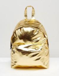 Рюкзак цвета металлик ASOS - Золотой
