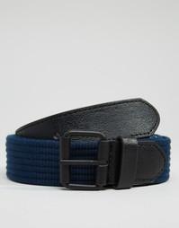 Плетеный пояс с черной окрашенной пряжкой ASOS