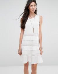 Платье с ажурными вставками Diya - Белый