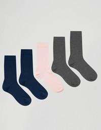 5 пар носков розового, серого и темно-синего цвета ASOS - Мульти