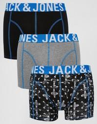 Комплект из 3 боксеров-брифов Jack & Jones - Черный
