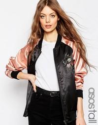 Куртка-пилот с цветочной вышивкой ASOS TALL Premium - Мульти