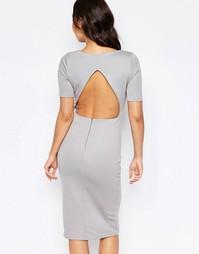 Платье с открытой спинкой Twin Sister - Серый