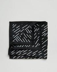 Платок для нагрудного кармана с принтом ASOS - Черный