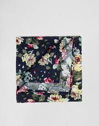 Темно-синий платок-паше с цветочным принтом ASOS - Темно-синий