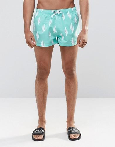 Короткие шорты с принтом кактусов Swells - Зеленый