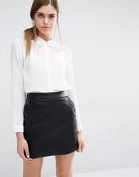 Рубашка с кружевным воротником Suncoo Laora - Белый