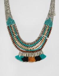 Ожерелье с кисточкой Pieces Benua - Серебряный