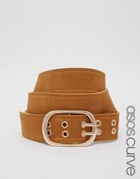 Замшевый ремень для джинсов ASOS CURVE - Рыжий