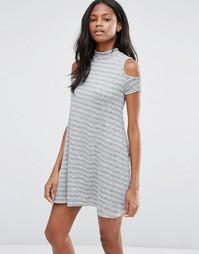 Платье в полоску Influence - Серый