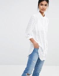 Рубашка с длинными рукавами Y.A.S Squares - Белый