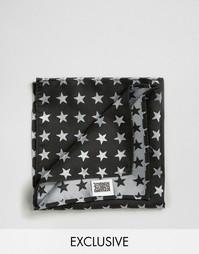 Черный платок для пиджака со звездами Reclaimed Vintage - Черный