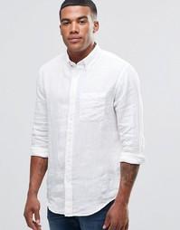 Белая льняная рубашка Abercrombie & Fitch - Белый
