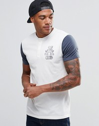 Облегающая футболка хенли с принтом A&Fitch Abercrombie & Fitch
