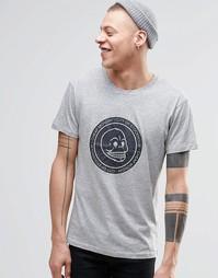 Серая меланжевая футболка с принтом черепа Cheap Monday - Серый меланж