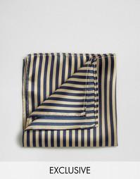 Платок для нагрудного кармана в полоску Reclaimed Vintage