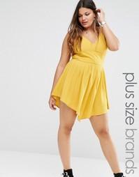 Платье мини на тонких бретельках Alice & You - Желтый