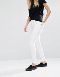 Стретчевые джинсы скинни с завышенной талией Weekday - Белый атлас