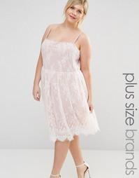Кружевное приталенное платье Junarose Violet - Misty rose