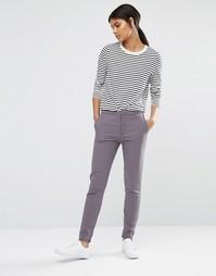 Серые брюки скинни Selected Muse - Серый
