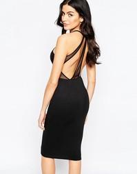 Облегающее платье миди Oh My Love - Черный