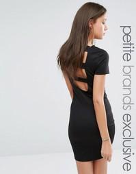 Облегающее платье с открытой спиной с ремешками Noisy May Tall