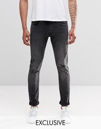 Черные джинсы скинни Lee Luke - эксклюзивно для UK - Черный выбеленный