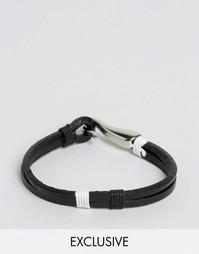 Кожаный браслет с крюком Seven London эксклюзивно для ASOS