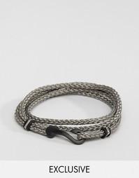 Серый браслет с крючком Seven London эксклюзивно для ASOS - Серый