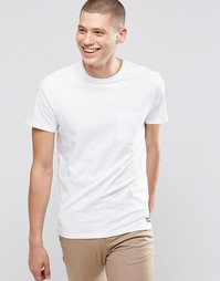 Белая футболка классического кроя с одним карманом Element - Белый