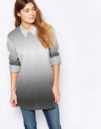 Рубашка с эффектом деграде Wood Wood Nima - Выцветший черный