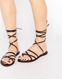 Замшевые сандалии с ремешком на щиколотке Park Lane - Шоколадный