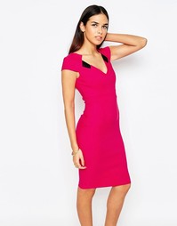 Платье-футляр с V‑образным вырезом Vesper Mabel - Розовый
