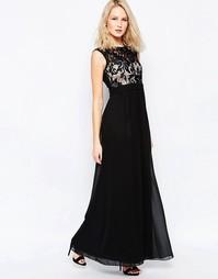 Платье макси с кружевным лифом Little Mistress