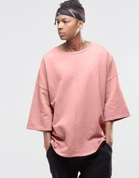 Свитшот с заниженной линией плеч Granted - Розовый