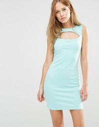 Цельнокройное платье с вырезом Pussycat London - Мятный