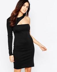 Асимметричное платье мини Twin Sister - Черный
