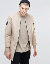 Удлиненная спортивная куртка N1SQ - Бежевый