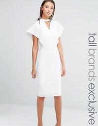 Облегающее платье с вырезом капелькой и рукавами-бабочкой Alter Tall
