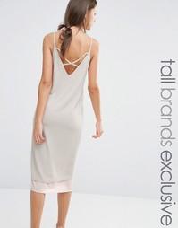 Платье-комбинация в стиле колор блок с отделкой сзади Alter Tall