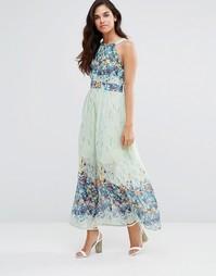 Платье макси с цветочным принтом Pussycat London - Мятный