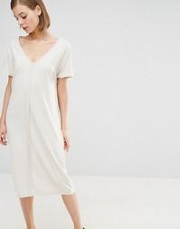 Платье миди Selected Lima - Кремовый