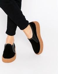 Кроссовки-слипоны на платформе Truffle Collection - Черный