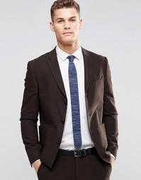 Коричневый пиджак зауженного кроя ASOS - Коричневый