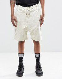 Состаренные шорты Granted - Желтовато-серый