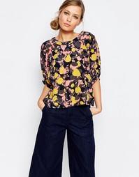 Блузка с короткими рукавами и абстрактным принтом See By Chloe