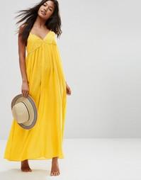 Пляжное платье макси ASOS - Горчичный
